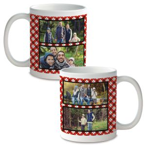 Plaid Custom Photo Mug