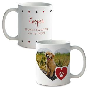 Paw Print Custom Photo Mug