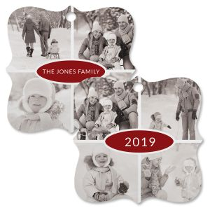 Year Custom Photo Ornament - Square Bracket 4