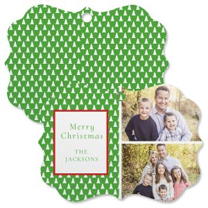 Green Tree Custom Photo Ornament - Bracket 2