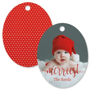 Merriest Custom Photo Ornament – Oval