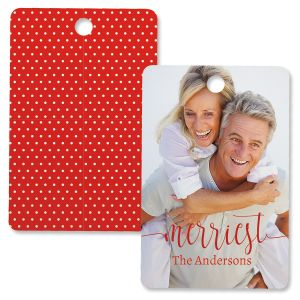 Merriest Custom Photo Ornament – Rectangle