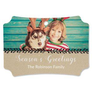 Festive Board Photo Ornament - Deluxe