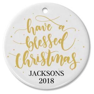Custom Blessed Christmas Ornament
