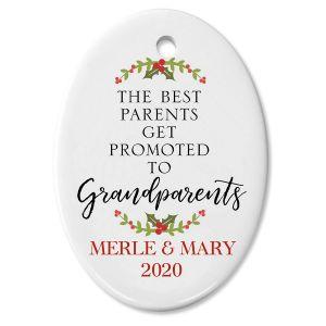 The Best Grandparents Custom Christmas Ornament
