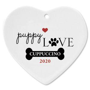 Puppy Love Custom Christmas Ornament