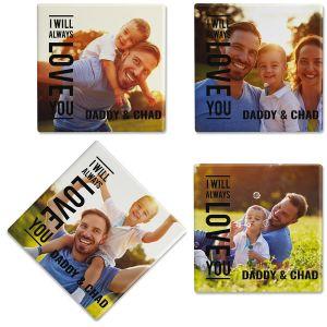 Always Love Custom Photo Coasters