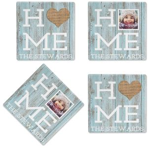 Rustic Home Custom Photo Coasters