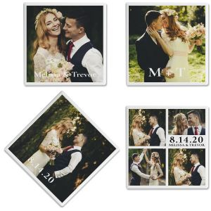 Nuptial Custom Photo Coasters
