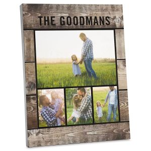 Wood Slats Custom Photo Plaque