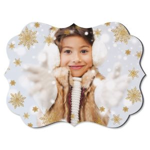 Glitter Snowflake Benelux Custom Photo Plaque