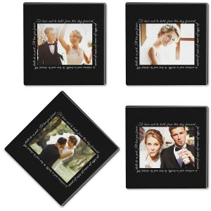 To Have and to Hold Custom Photo Coasters
