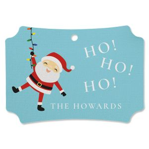 Santa Lights Personalized Ornament Deluxe