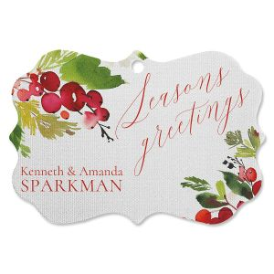 Watercolor Holly Personalized Ornament Bracket