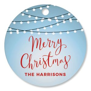 Christmas Lights Personalized Ornament Circle