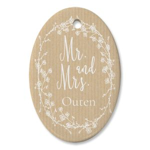 Mr And Mrs Personalized Ornament Oval