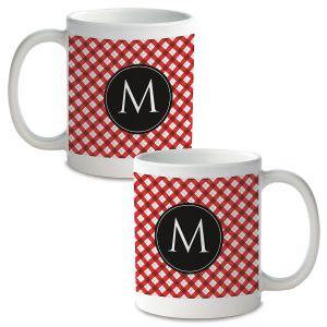 Plaid Personalized Ceramic Mug
