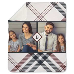 Sherpa Plaid Custom Photo Throw