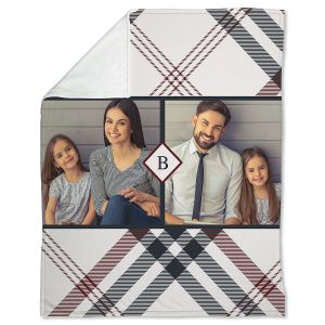 Plaid Fleece Custom Photo Throw