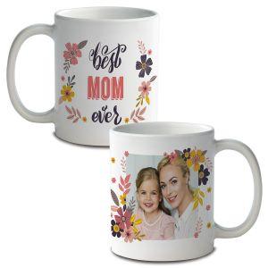 Floral Custom Photo Mug