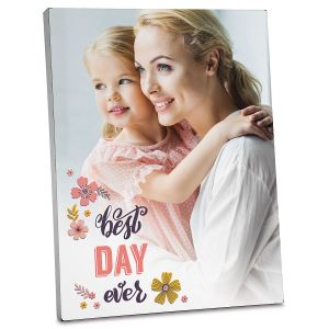 Floral Custom Photo Plaque