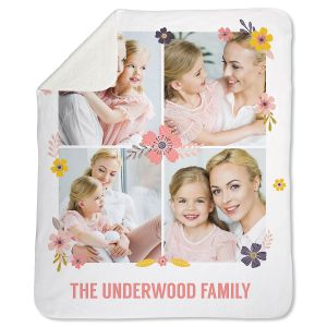 Sherpa Floral Custom Photo Throw