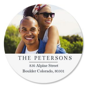 Classic Round Photo Return Address Label