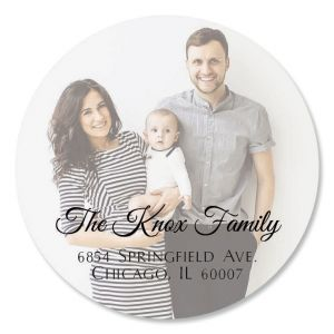 Personalized Full Photo Round Address Label