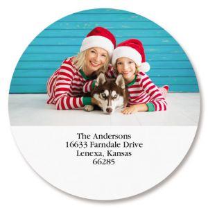 Direct Round Photo Return Address Label