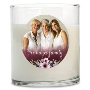 Watercolor Custom Photo Candle