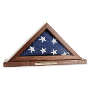 Custom Walnut Flag Display Case