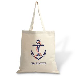 Custom Anchor Canvas Tote