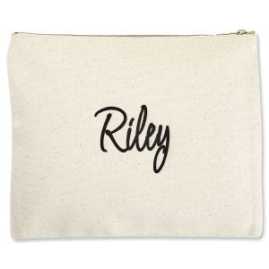 Custom First Name Zippered Pouch