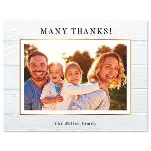 Horizontal Shiplap Thank You Photo Note Cards