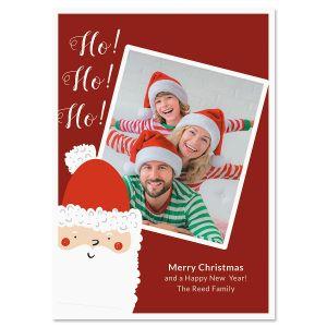Ho Ho Ho Personalized Photo Christmas Cards