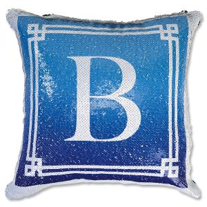 Sequined Monogram Personalized Pillow