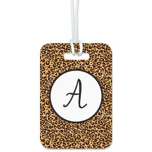 Cheetah Print Custom Luggage Tag
