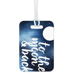 To The Moon Custom Luggage Tag