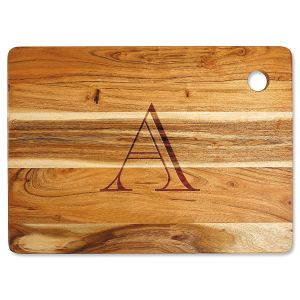 Acacia Styled Initial Custom Large Cutting Board
