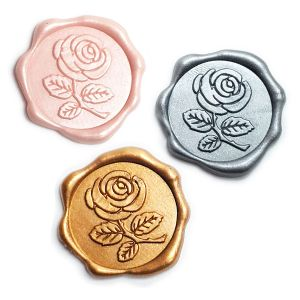 Rose Adhesive Wax Seal