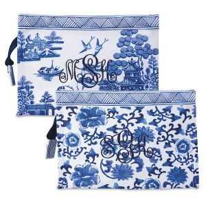 Custom Monogrammed Chinoiseries Pouch