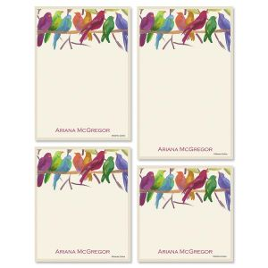 Flocked Together Memo Pad Set