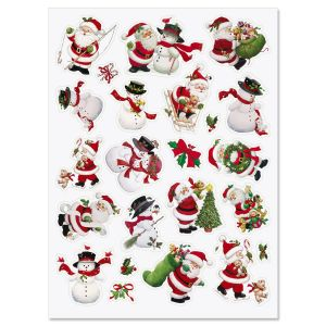 Santa & Snowman Stickers - Buy 1, Get 1 Free