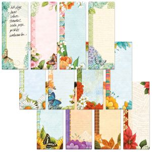 Floral Shopping List Pads