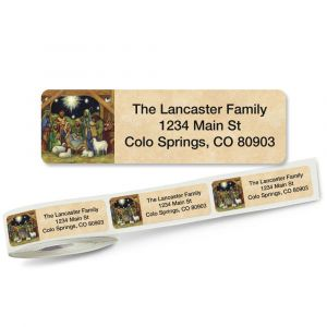 Nativity Rolled Return Address Labels