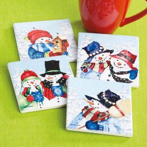 Joyful Snowfriends Coasters