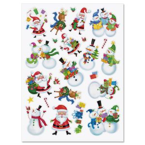 Holiday Friends Stickers - Buy 1 Get 1 Free!