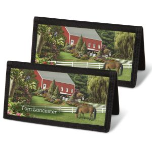Country Life Personal Checkbook Covers