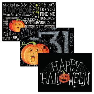 Chalked Up Halloween Cards