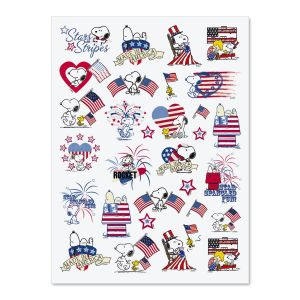 Peanuts Patriotic Stickers
